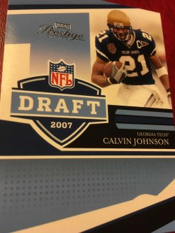 2007 Donruss Playoff Prestige NFL Draft CALVIN JOHNSON NFLD-13 Detroit Lion RC WR