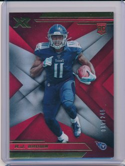 A.J. Brown 2019 Panini XR Red RC /249