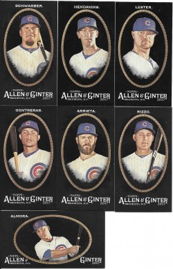 2017 Allen & Ginter X Cubs Minis