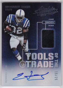 2013 Panini Absolute Tools of the Trade Shoe Signatures Edgerrin James