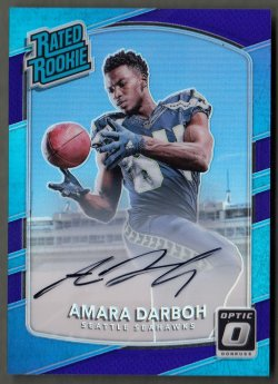 2017  Donruss Optic Rated Rookie Autographs Purple Amara Darboh