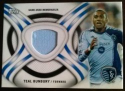 2013 Topps MLS Kits Relics Set Teal Bunbury