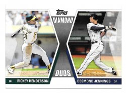 2011 Topps Topps Diamond Duos Rickey Henderson and Desmond Jennings