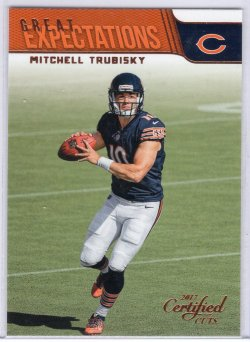 2017 Donruss Certified Cuts Mitchell Trubisky Great Expectations