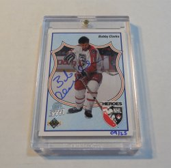 2014/15 Upper Deck 25th Anniversary Bobby Clarke 90/91 HH buyback autograph