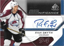 2008-09 Upper Deck SP Game Used SIGnificance Ryan Smyth