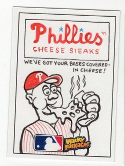2016 Topps MLB Wacky Packages Phillies Cheese Steaks Sketch by Dustin Graham