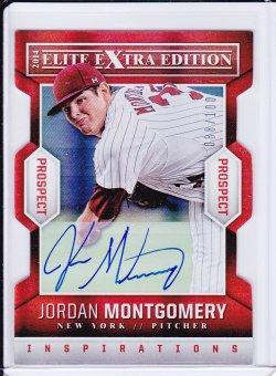 Jordan Montgomery 2014 Elite Extra Edition Signatures Inspirations /100