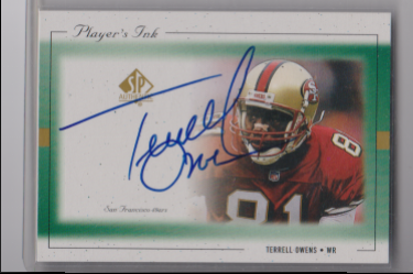 1999 Upper Deck sp authentic players ink terrell owens