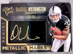 2016 Panini Black Gold DeAndre Washington Rookie Metallic Marks