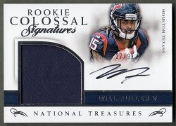2016 Panini National Treasures Rookie Colossal Signature Materials Will Fuller