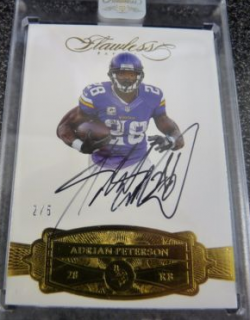 2016 Panini Flawless Adrian Peterson Auto