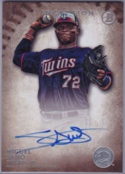 2015 Bowman Inception Miguel Sano Auto