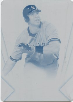 2012 Topps Triple Threads Mark Teixeira Printing Plate Cyan