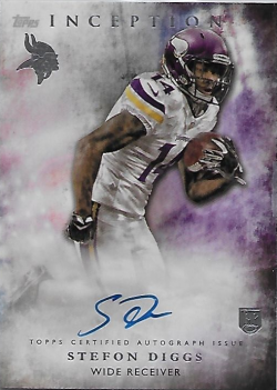 2015 Topps Inception  Stefon Diggs Auto