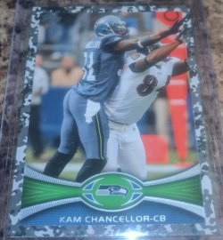 2012 Topps Base Camo Parallel Kam Chancellor