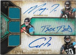 2014 Topps Triple Threads Autographed Relics Trios Emerald Marqise Lee/Blake Bortles/Allen Robinson