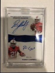 2019 Panini Flawless Collegiate Dwayne Haskins/Parris Campbell Dual Auto