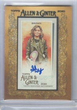 2020 Topps Allen & Ginter Sky Brown Autograph