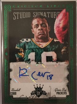 2015 Panini Gridiron Kings Studio Signatures Green Randall Cobb