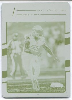 2016 Donruss Plates and Patches Buyback Kam Chancellor Printing Plate Yellow