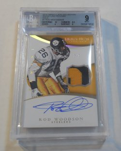 2015 Panini Immaculate Collection Rod Woodson patch autograph