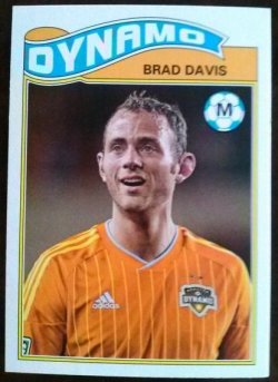 2013 Topps MLS 1978 English Footballer Set Brad davis
