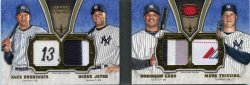 2012 Topps Five Star Mark Teixeira Alex Rodriguez Derek Jeter Quad Patches