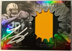 2015 Topps Diamond Ty Montgomery RC Patch Auto