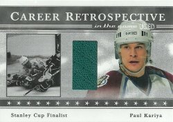 2003/04 In The Game Used Career Retrospectives Paul Kariya /50