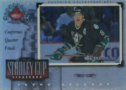 1997/98 Donruss Canadian Ice Stanley Cup Scrapbook Framed Selanne (Conf. QF)