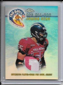 2001 Topps Chrome Pro Bowl Jersey - Junior Seau