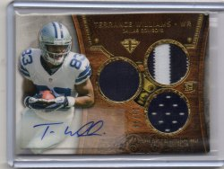 2013 Topps Triple Threads Terrance Williams Triple Materials Signature