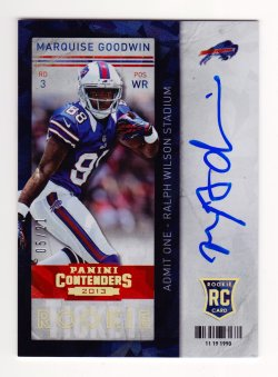 2013 Panini Contenders Cracked Ice #225A  Marquise Goodwin/21