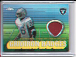 2003 Topps Chrome Gridiron Badges Jersey - Rod Woodson
