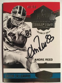 2016 Panini Plates & Patches  Canton Calligraphy #14 Andre Reed /50
