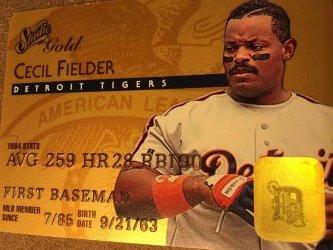 1995 Donruss Studio Gold  CECIL FIELDER #45 Detroit Hanshin Tigers AllStar1B