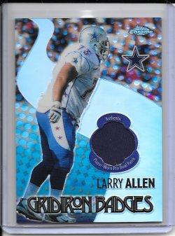2005 Topps Chrome Gridiron Badges Jersey - Larry Allen