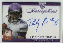 2014 Panini Elite Teddy Bridgewater Auto Acetate