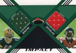 Harry Douglas 2008 Stadium Club Impact Dual Jersey with Brian Brohm 40 of 50