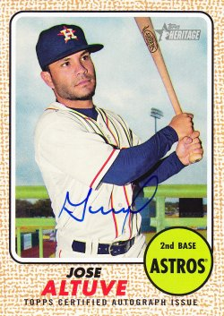 2017 Topps Heritage Jose Altuve Real One