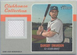 2019 Topps Heritage Clubhouse Collection Dansby Swanson