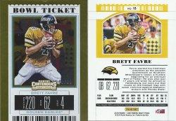 2019 Panini Contenders Draft Picks Bowl Ticket #18 Brett Favre