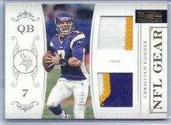 2011 Panini National Treasures NFL Gear Prime Christian Ponder