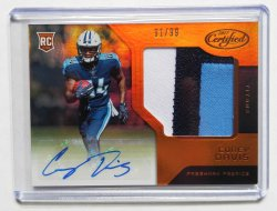 2017 Panini Certified Corey Davis RPA Mirror Orange