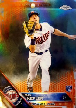 2016 Topps Chrome Max Kepler Orange Refractor