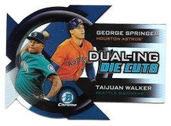 2014 Topps Bowman Chrome Dual-ing Die Cut Refractors George Springer and Taijuan Walker