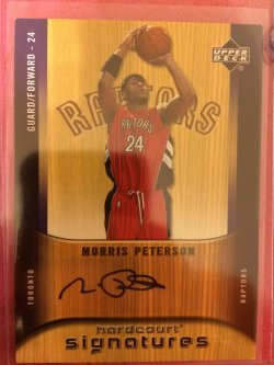 2005 Upper Deck Hardcourt Morris Peterson Hardcourt Signatures