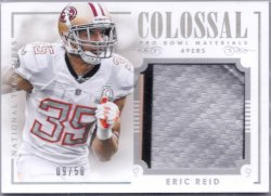 2014 Panini National Treasures Colossal Pro Bowl Materials Prime 3 Color Patch Eric Reid