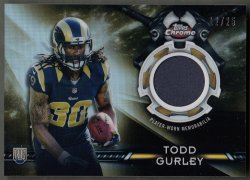 2015 Topps Chrome Rookie Relics Gold Refractors Todd Gurley